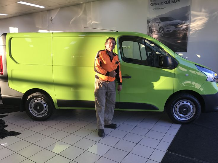 Doug picking up his new Renault Trafic Van... #CDRenault...