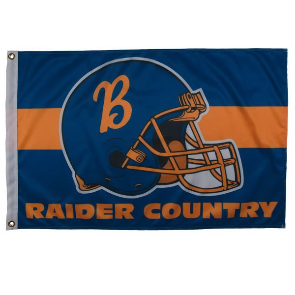 2' x 3' Sports Flag - Made of durable polyester fabric, these Sports Flags have a dye sublimated four color process imprint on the front with a reverse image on the back. The canvas heading comes with built-in brass grommets for display. Made in the USA. #propelpromo