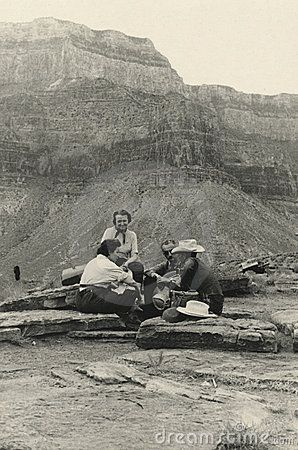 This original antique photograph is taken in 1940. Grand Canyon.