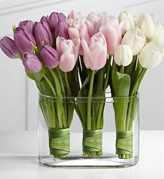 Tulipány - velikonoční dekorace