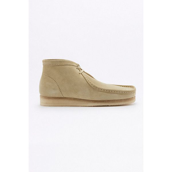 Clarks Wallabee Maple Boots ($120) ❤ liked on Polyvore featuring men's fashion, men's shoes, men's boots, maple, mens moccasin boots, clarks mens boots, clarks mens shoes, mens moccasins shoes and mens flat shoes