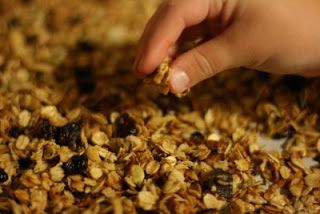 this is so easy to do, and it makes a huge batch:  CrockPot Granola Recipe