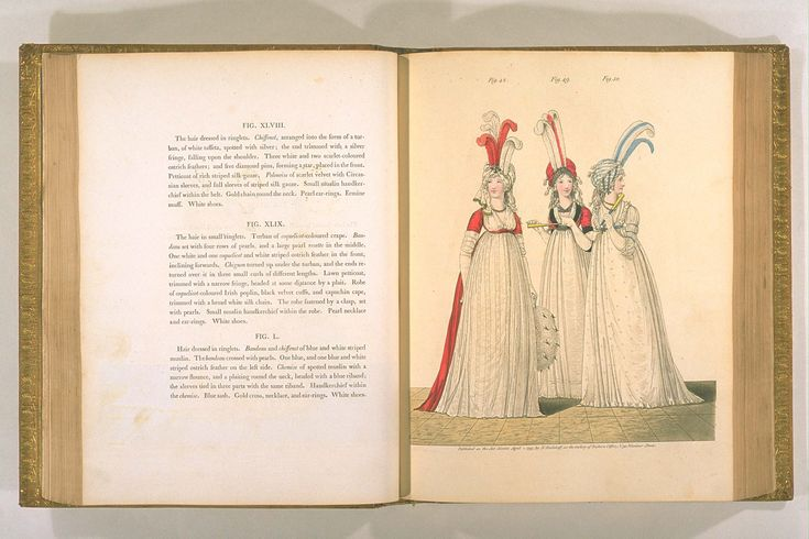 Polonoise of scarlet velvet with Circassian sleeves; Gallery of fashion, April, 1795