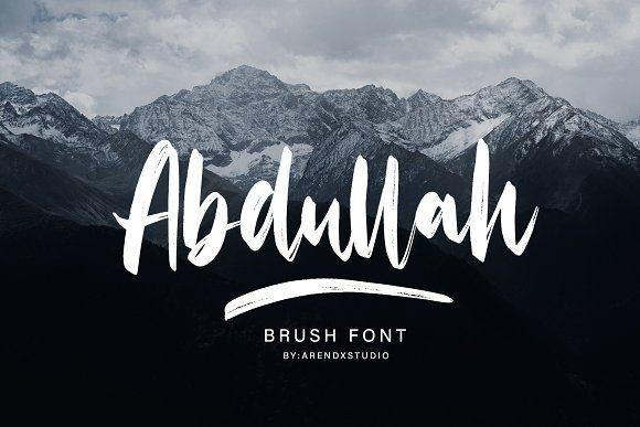 Abdullah Handbrush Typeface Typeface Brush Font Typeface Design