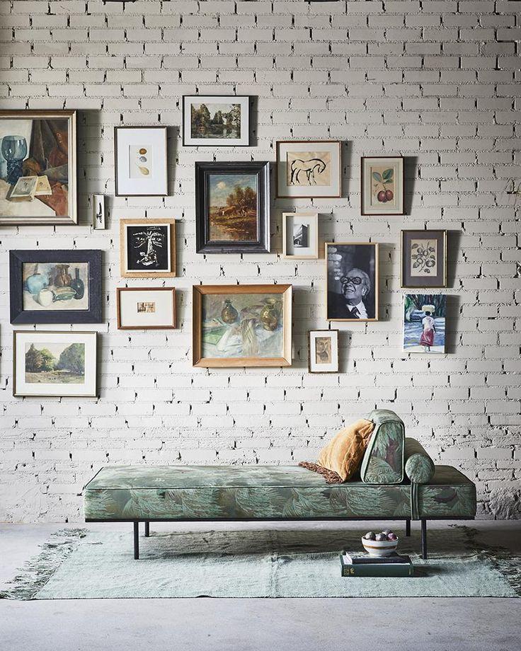 Vloerkleed Linnen - Legergroen - 230 x 320 cm - met franjes - HK Living