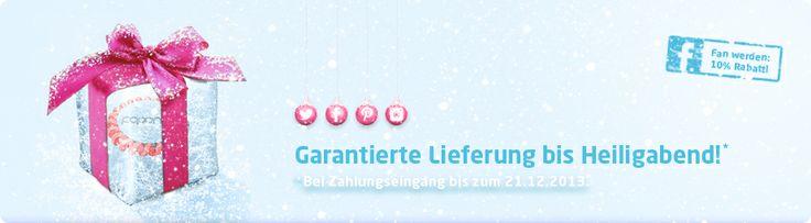 Bestellt in unserem #Shop bis zum 21. #Dezember 2013 und ihr bekommt euer #Weihnachtspaket bis #Heiligabend. #Papanga