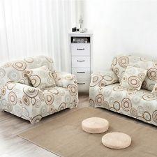 Nuevo tramo sofá de dos plazas sofá Slipcover impreso Cubierta moderna decoración de la sala de estar