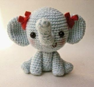 Smaragd kreatív kuckója: Horgolt kis elefánt magyar leírás