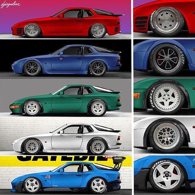 Outlaw inspired Porsche 944s, by djinguelian