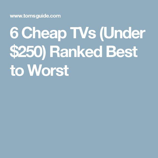 6 Cheap TVs (Under $250) Ranked Best to Worst