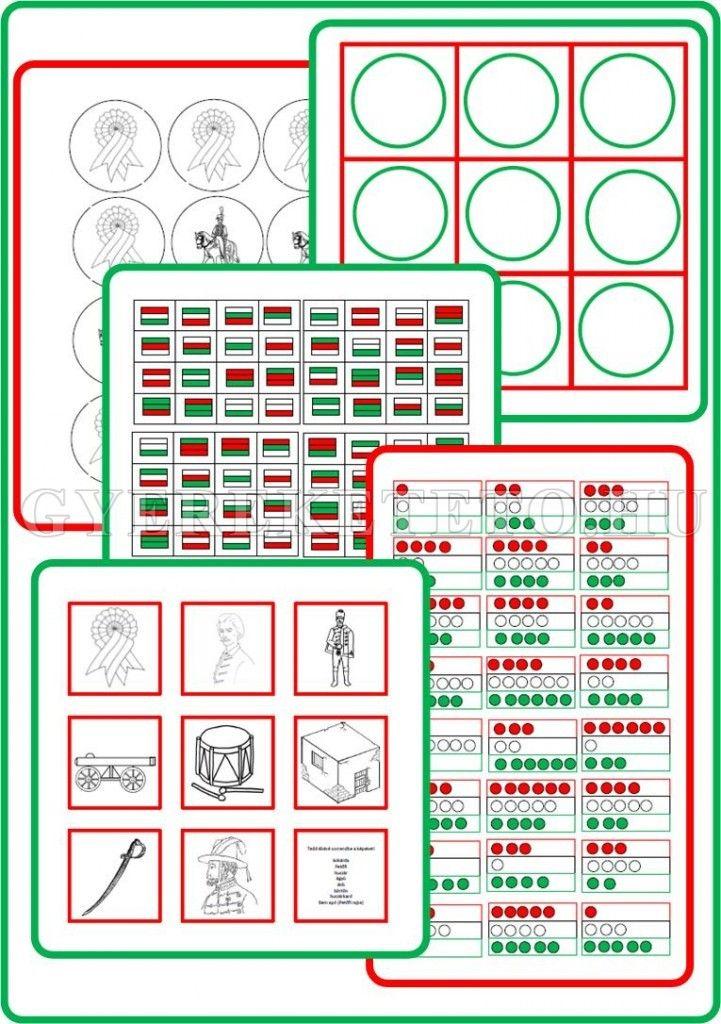 játékgyűjtemény piros-fehér-zöldben