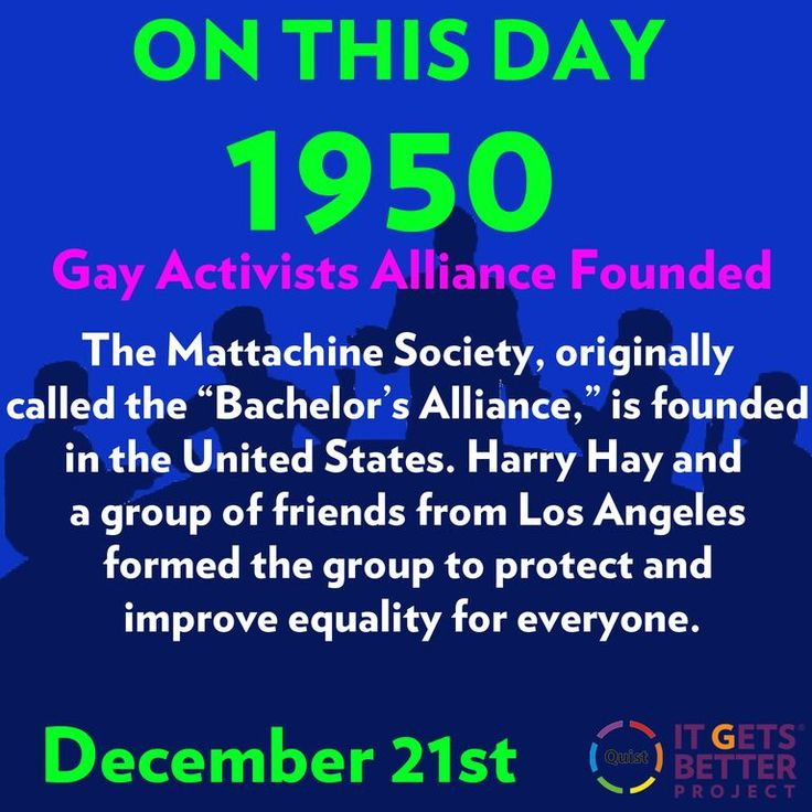 """The Mattachine Society"" Established as Critical Force in Gay-Rights Activism"