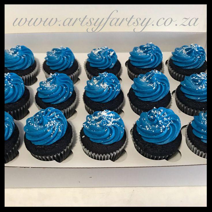 Blue Cupcakes #bluecupcakes