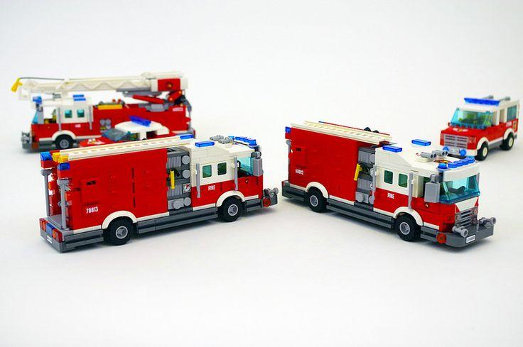 Fire Engines by Jason Skaare #lego #brickadelics #firetruck #truck #fire #collection #nyfd #vehicles