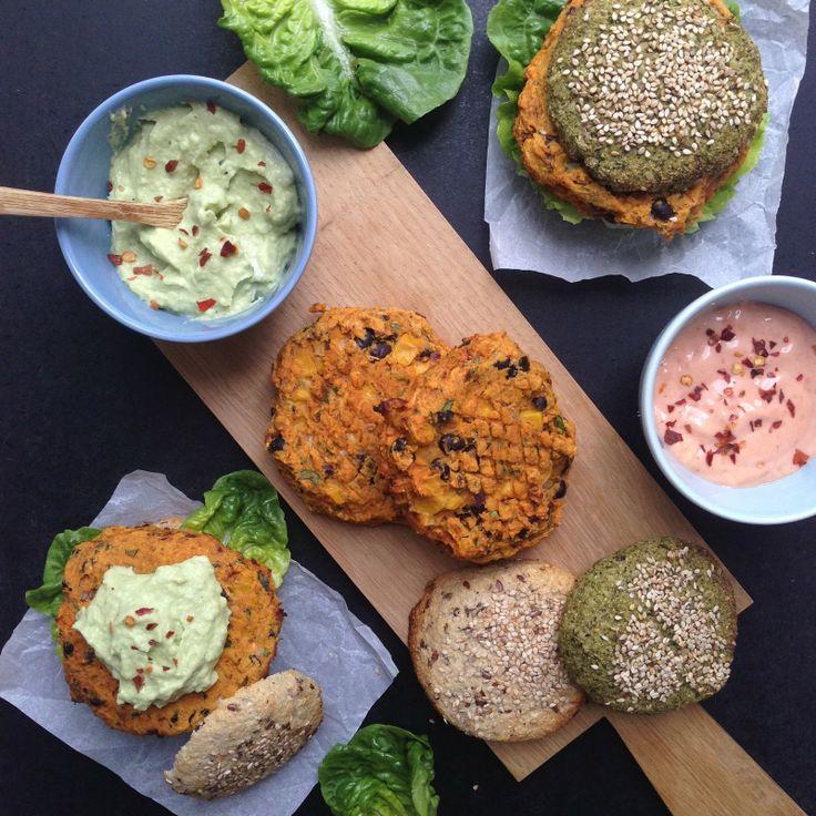 Kødfri mandag: veggie burgers i grøntsagsboller