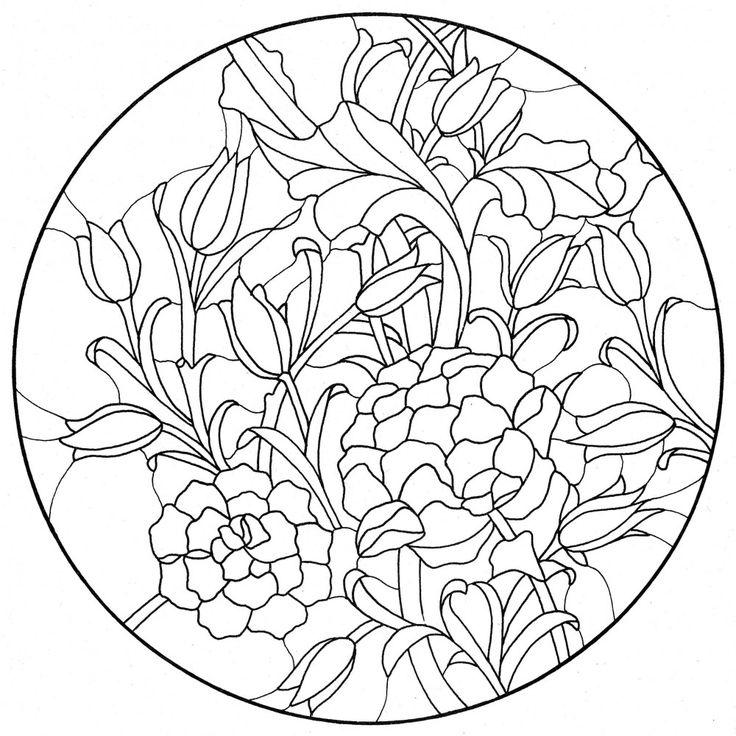 1692 best coloring floral images on pinterest coloring books william morris colouring pages 20 lebensfreude laden glaskunst motive fandeluxe Images