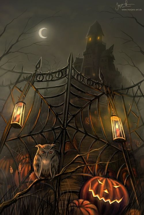halloween gate digital art by jeremiah morelli - Cool Halloween Pics