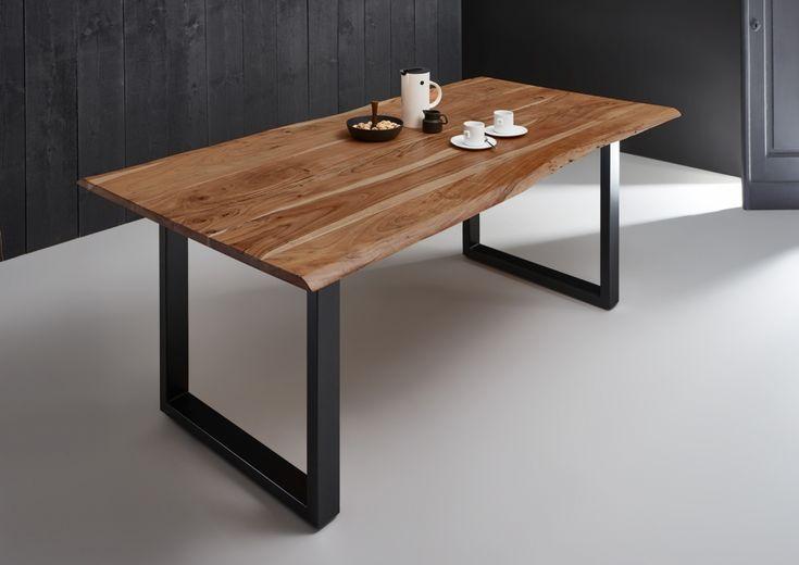 SAM® Baumkantentisch Esszimmer Tisch 180 cm massiv Akazie Milo Demnächst    Esstisch baumkante ...