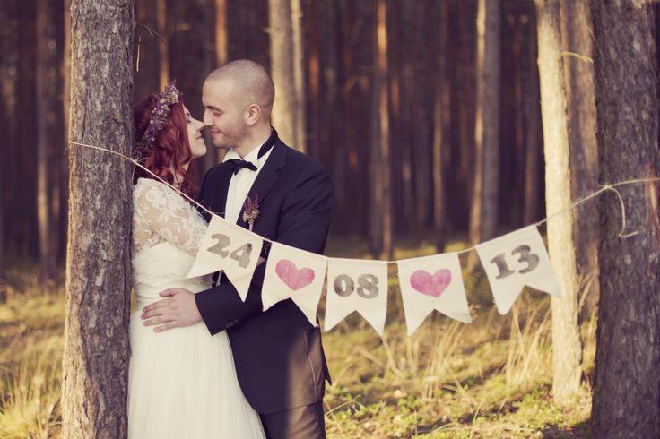 Wedding date / Rustic wedding / Katarzyna Wojciechowska photography