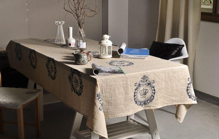 Aliexpress.com: Comprar Vintage Crown Linen Mesa De café Mesa lateral toalla mantel decoración casera elegante lamentable / toalha De Mesa de decoración americana fiable proveedores en Ocean Simplicity Home Decor