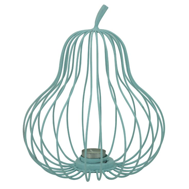 Pear Wire Tealight | Blue | 22x26.3cm by Cushions & Ceramics on THEHOME.COM.AU