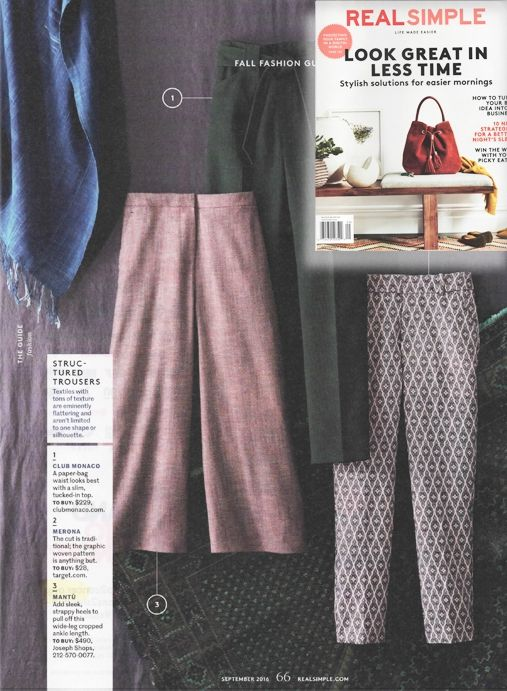 Mantù FW 2016-17 wool pants on @real_simple  #USA #FW2016 #mantu #pants #fashion #instagramhub   #instagrammers #iphoneonly  #instagood #bestoftheday #tweegram #igers #instamood #picoftheday #cute #instadaily  #webstagram #beautiful  #instagram #instafamous