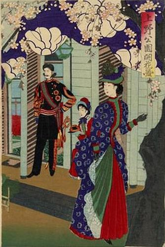 Meiji Ladies at Ueno Park by Chikanobu Toyohara. 1880's