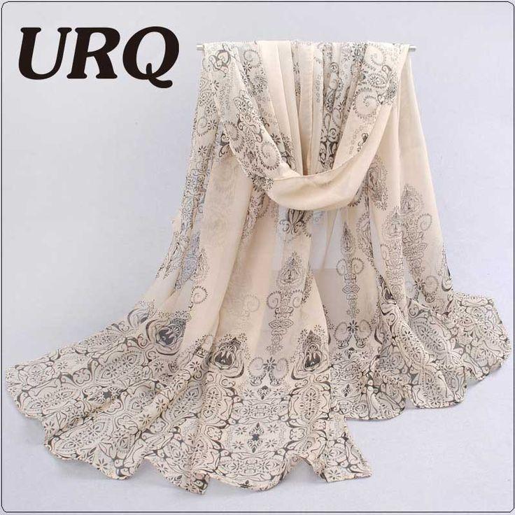 1PC Designer  l* scarves Porcelain printed soft chiffon velvet Silk scarves for Girl 60*150cm P7A16012