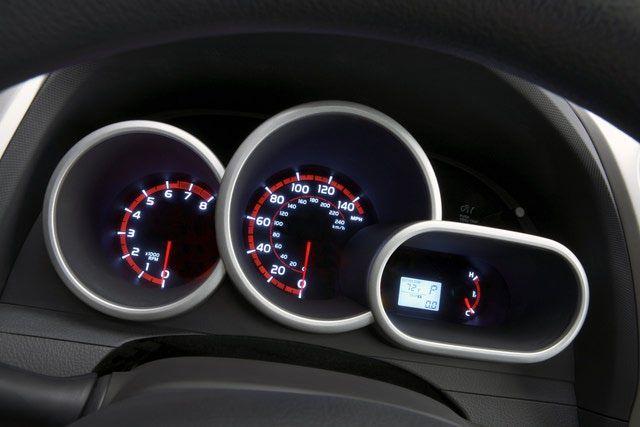 2009 Pontiac Vibe instrument panel