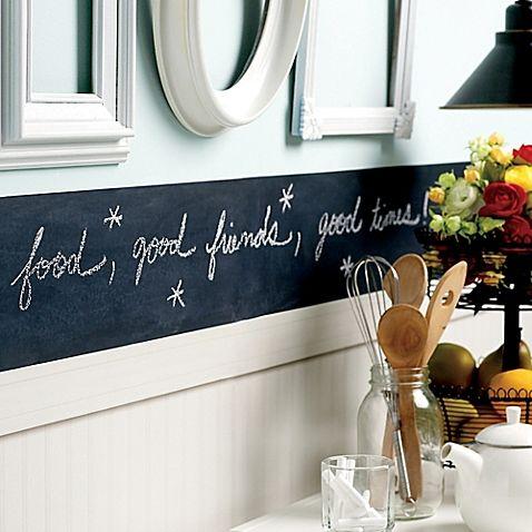 Slate Grey 48 Peel And Stick Chalkboard Border In 48 Liz Cool Chalkboard Paint Backsplash Exterior