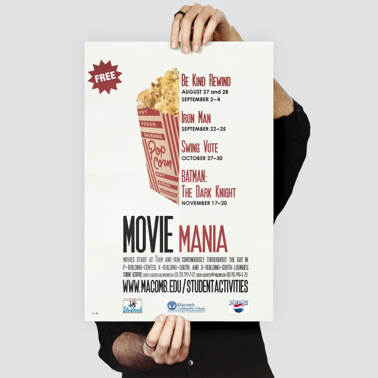 Macomb Community College : Poster for Student Events. Kostandinos | www.kostandinos.com