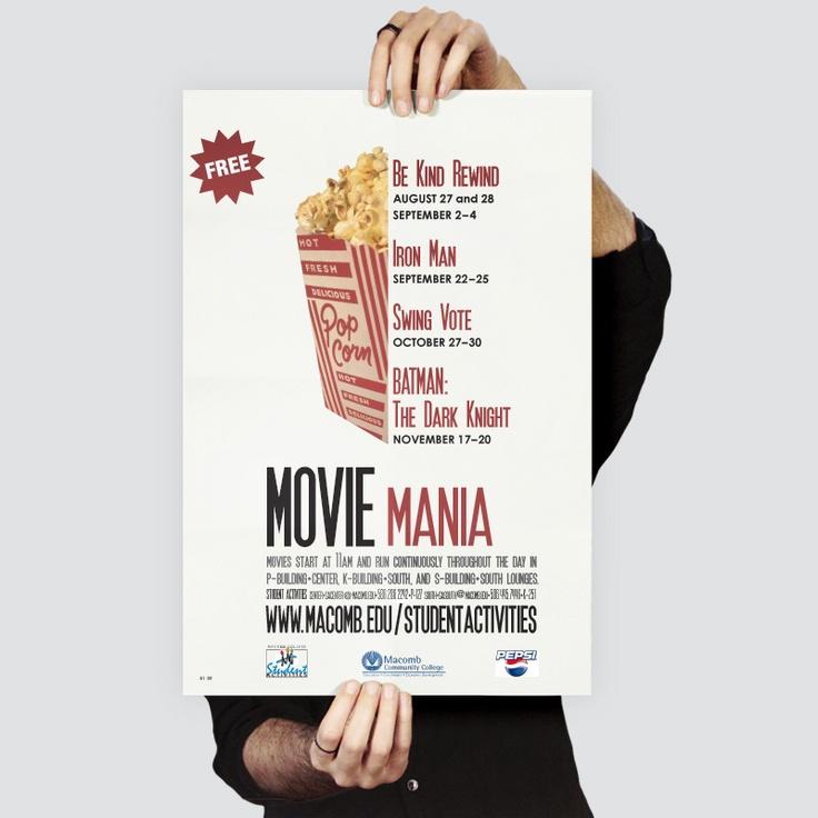 Macomb Community College : Poster for Student Events. Kostandinos   www.kostandinos.com