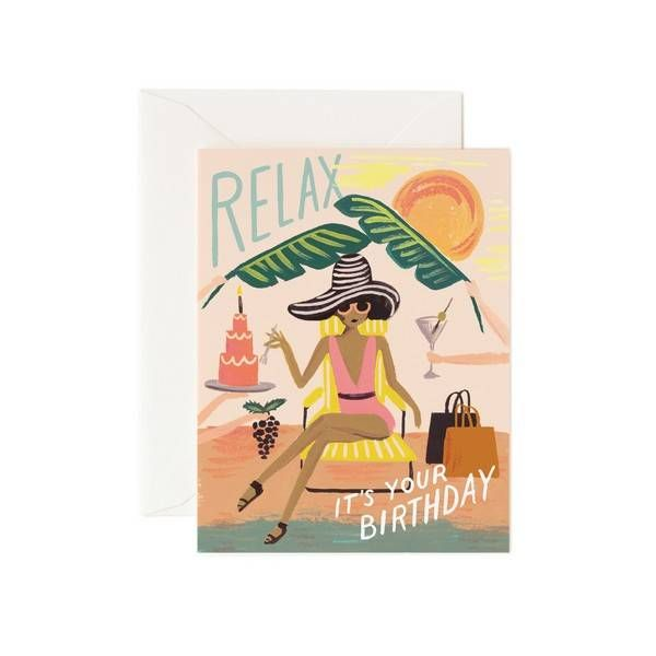 Rifle Paper Co. Wenskaart Relax, it's your birthday