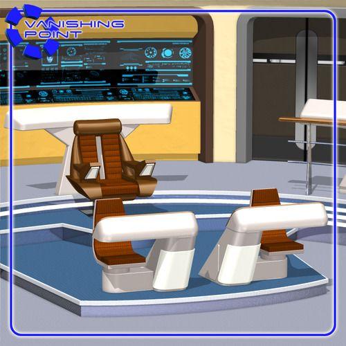 starship bridge 13 for poser 3d model obj pz3 pp2 2