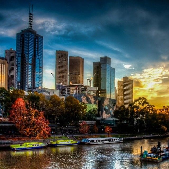 Our city on the Yarra captured by @nic_231 #visitmelbourne #yarra #seeaustralia #melbourne #fedsquare