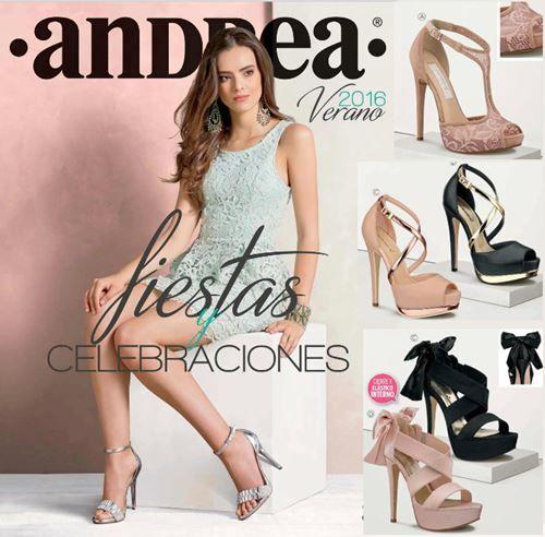 Catalogo de Andrea Zapatos de Fiestas y Celebraciones Verano 2016. Zapatillas elegantes de noche