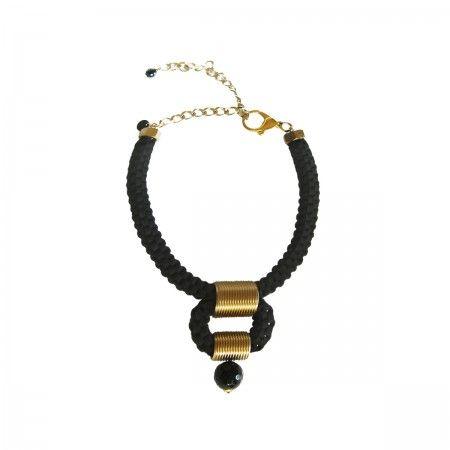 Lacrom Store || Finny's Design, Jewelry, Collana Cilindri Nera