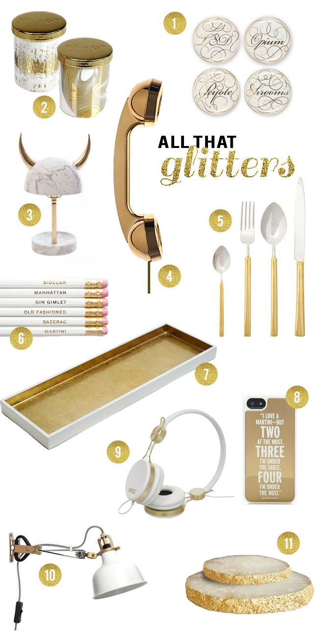 White and Gold Buying Guide:  All That Glitters