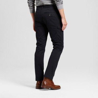 Men's Slim Fit Cargo Pants - Goodfellow & Co Black 32x32