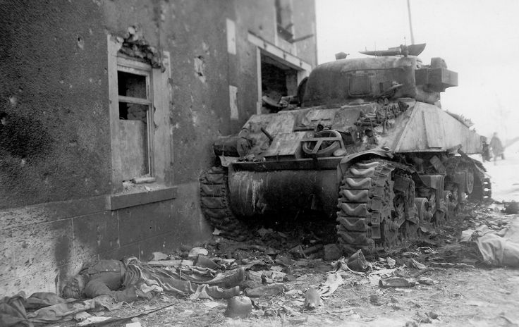 M4 Sherman 6ad Tank Belonging To The Us 6th Armored