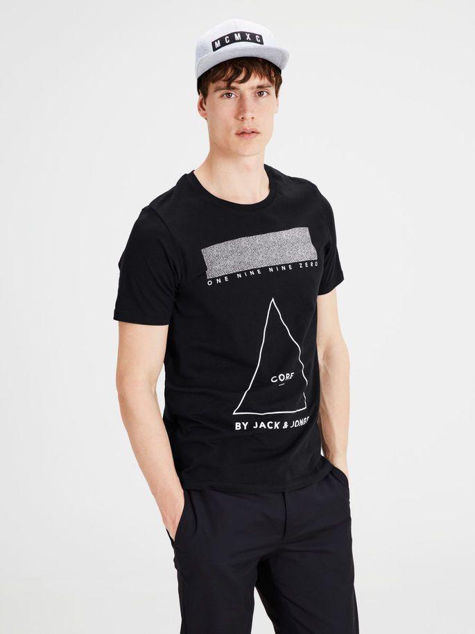 GRAFISK T-SHIRT, Black, large