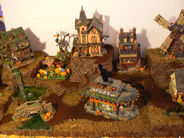 halloween village displays