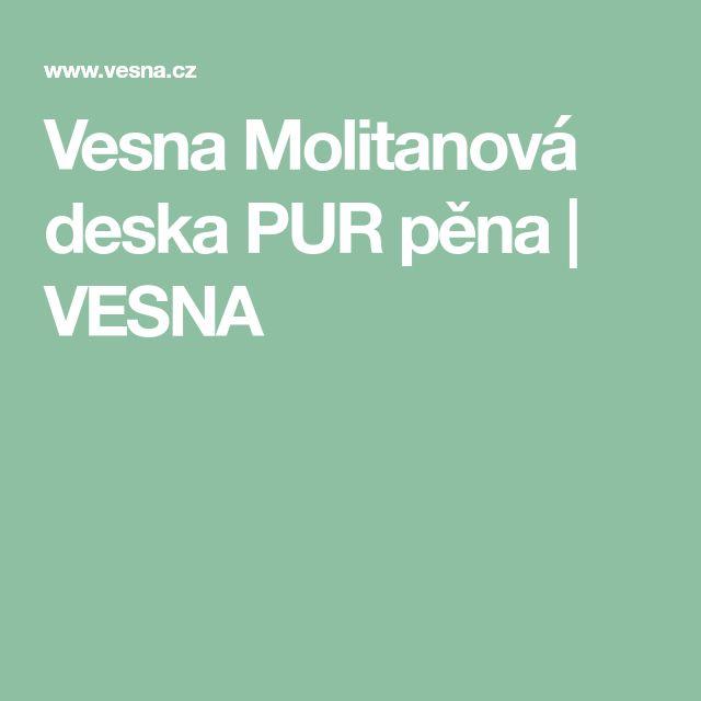Vesna Molitanová deska PUR pěna | VESNA
