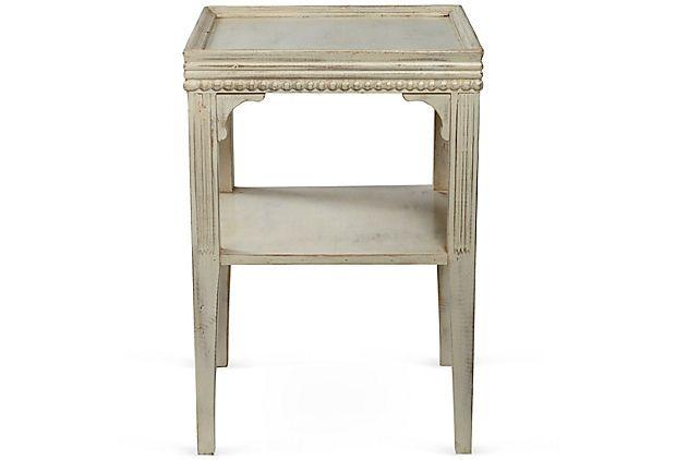 Emmaleen Wood Side Table, White On OneKingsLane.com