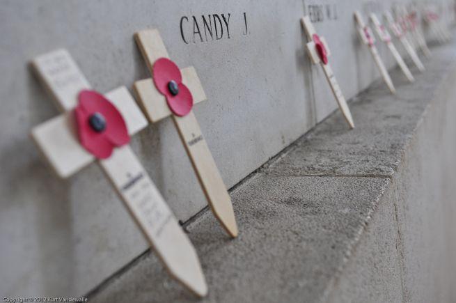 Wapenstilstand Ieper, Armistice Day Ypres, Poppy Crosses, Menin Gate, Menenpoort, WW I, WO 1, (c) Kurt Vandewalle