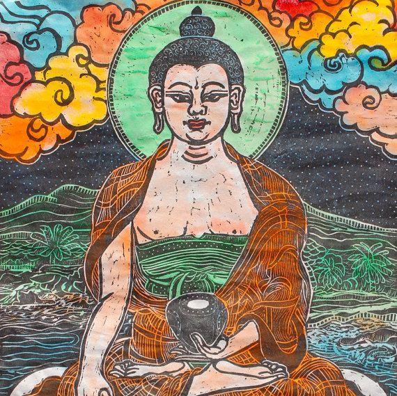 Buddha mit Buckelwalen, buddhistische Kunst, Thangka, Tanka, Dharma, Meditation, buddhistische Gottheit, Shakyamuni, zeitgenössische buddhistische Kunst, Heilige