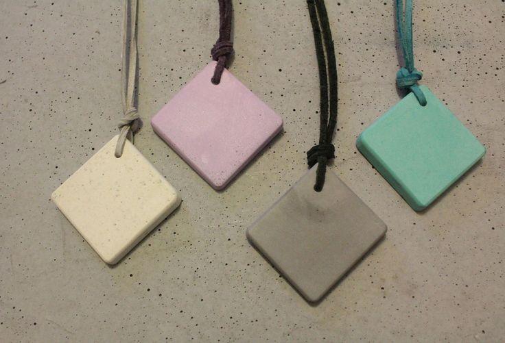 Color square pendant