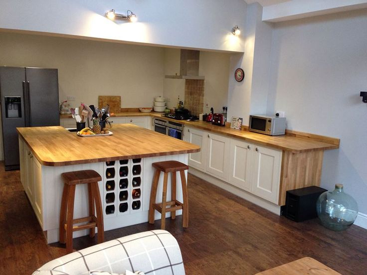This Vast Prime Oak Worktop Was Fabricated By Our In House Team To Create An