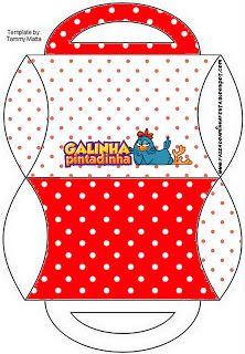 Pintadinha курица в красный и белый горошек - Полный комплект с кадрами для приглашений, этикеток для закусок, сувениров и фотографий Создание нашей партии