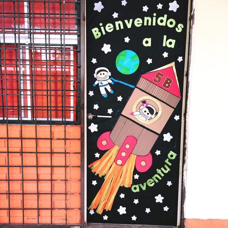 Puerta escolar de bienvenidos puertas decoradas for Decoracion de puertas de colegio